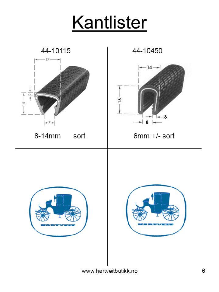 www.hartveitbutikk.no6 Kantlister 8-14mm sort 44-10115 44-10450 6mm +/- sort