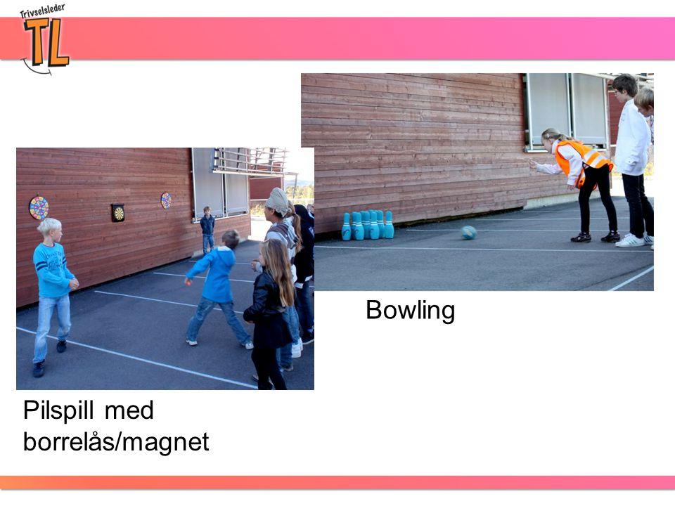 Pilspill med borrelås/magnet Bowling