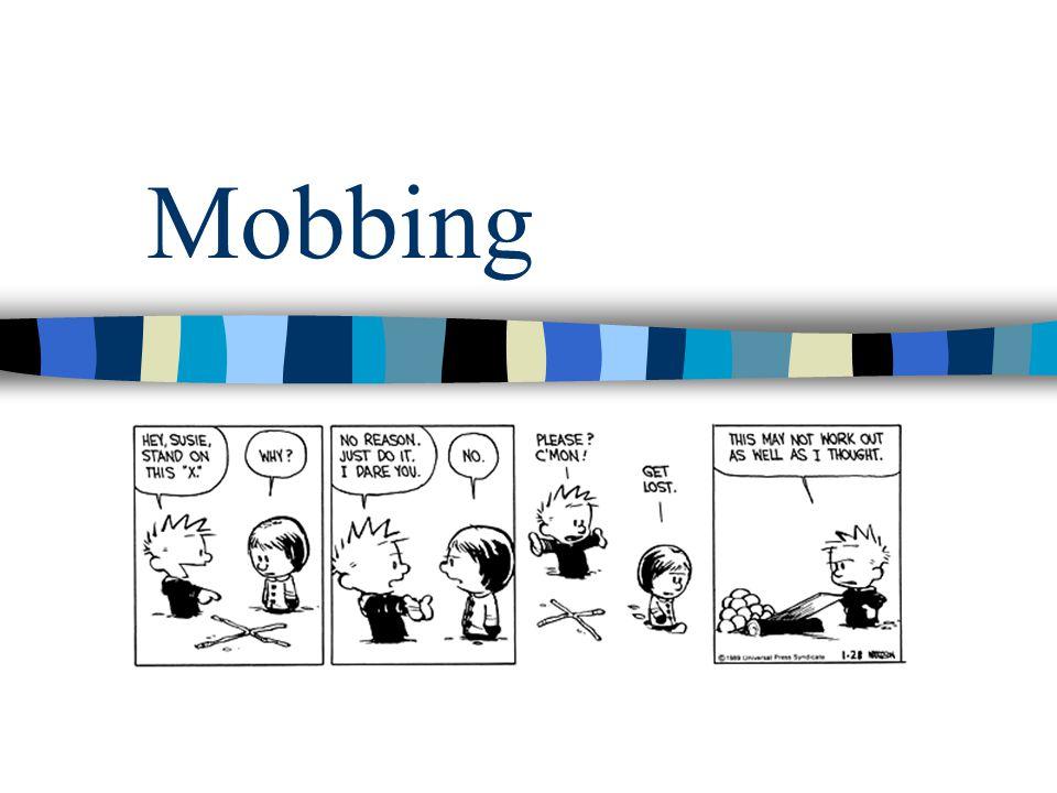 Hvordan kan man se at noen blir mobbet Mobbing kan generelt sett være vanskelig å oppdage  Offeret sier sjelden noe –Da blir det bare verre –Man skammer seg over å bli mobbet  Mobberen bortforklarer –Hvem.
