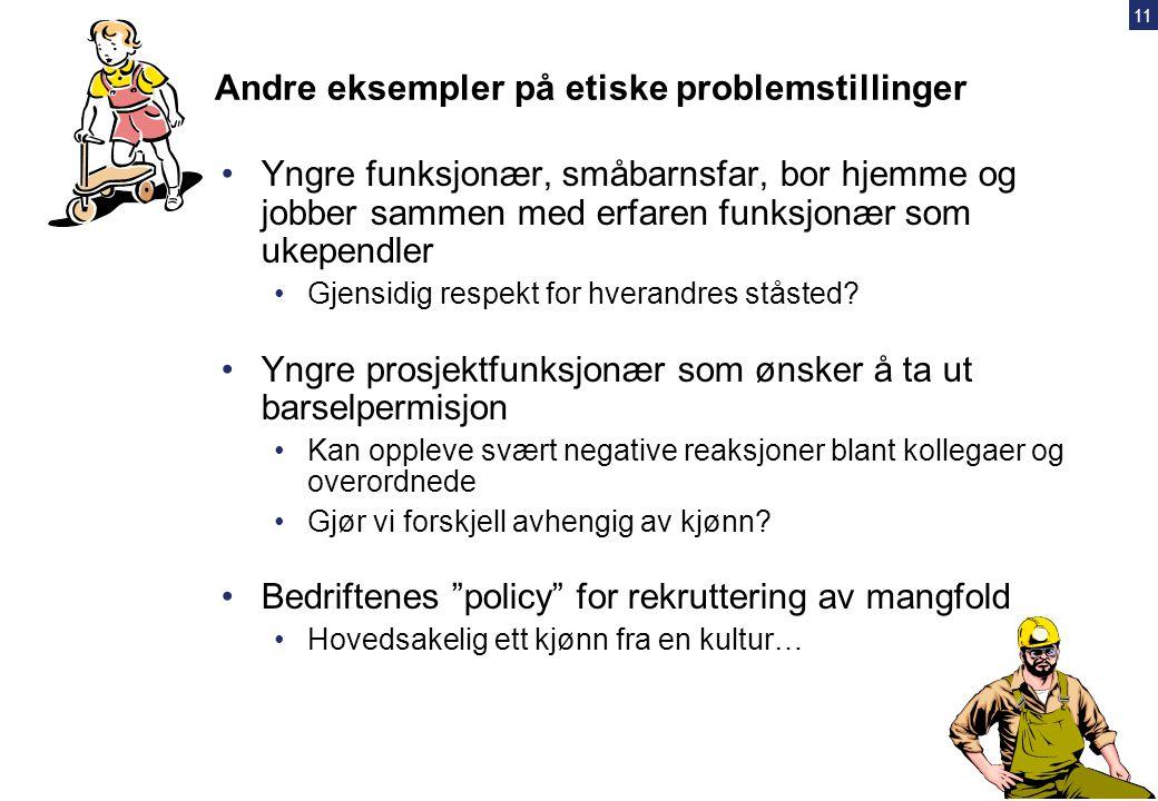 10 Eksempler på problemstillinger i næringen – hva har vært/er akseptabelt??? •Beholde urettmessig godt oppgjør fra UE / leverandører •Ikke melde i fr