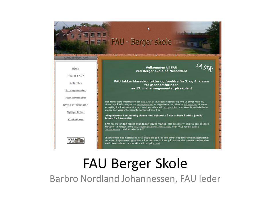 FAU Berger Skole Barbro Nordland Johannessen, FAU leder