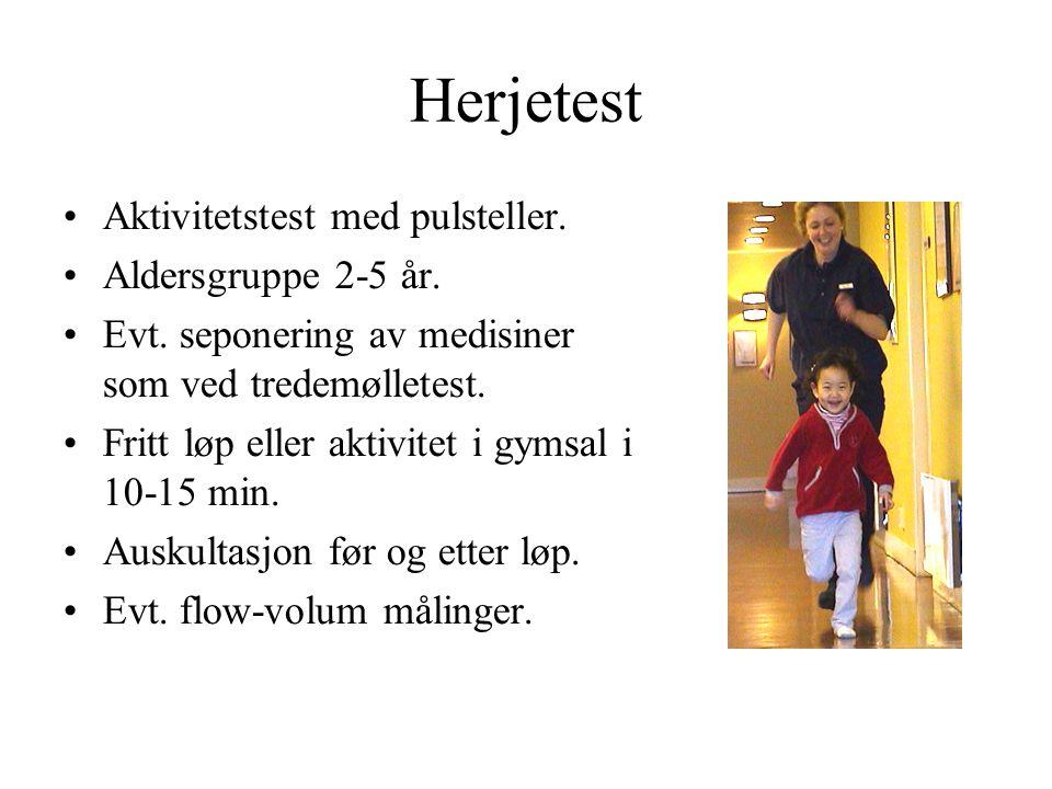 Herjetest •Aktivitetstest med pulsteller.•Aldersgruppe 2-5 år.