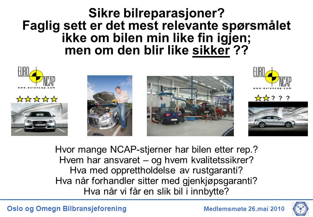 Oslo og Omegn Bilbransjeforening Medlemsmøte 26.mai 2010 .