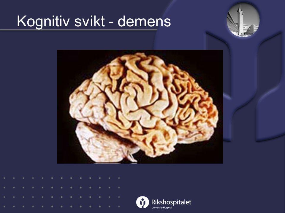 Kognitiv svikt - demens