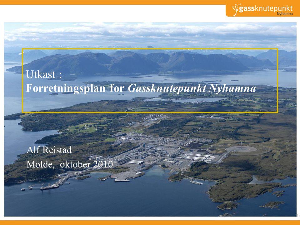 Flere steder i Norge arbeides det aktivt med å få aktører til å utnytte lett tilgjenglige gassressurser Naturgassparken Stavanger • Investert 1 MrdNOK, 30 arbeidsplasser, • politisk etablert LNG fabrikk • Kommunen arbeider ikke lenger aktivt for gass, fokuserer på turisme.