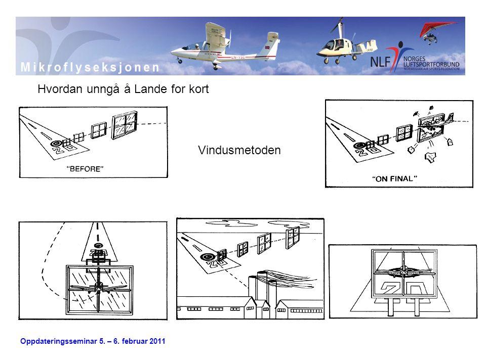 Oppdateringsseminar 5.– 6. februar 2011 Ballooning er en annen årsak til hard landing.