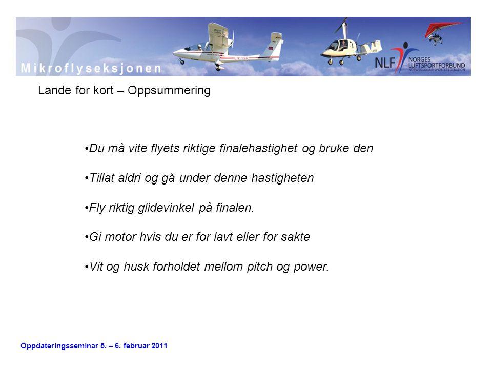 Oppdateringsseminar 5.– 6.