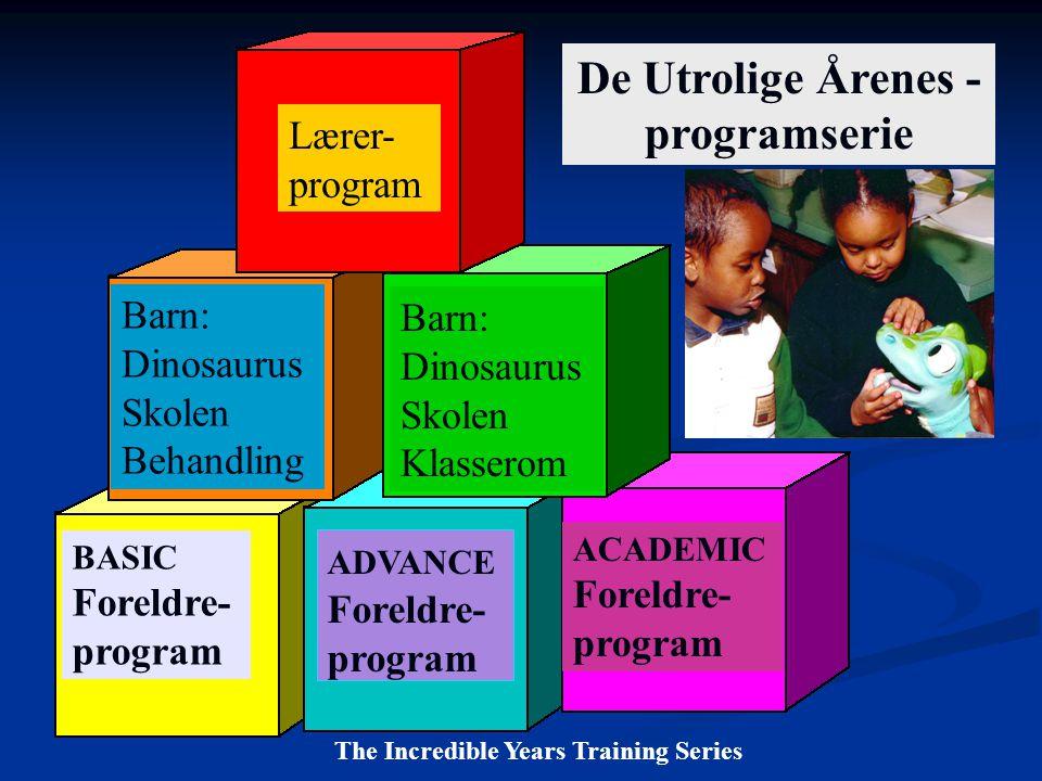 Lærer- program ADVANCE Foreldre- program Barn: Dinosaurus Skolen Klasserom BASIC Foreldre- program ACADEMIC Foreldre- program Barn: Dinosaurus Skolen