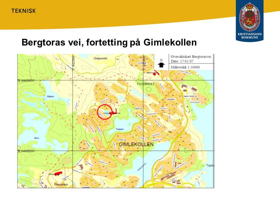 Bergtoras vei, reg.plan forslag 1 2 3 4 5 6 7 2 manns bolig ut til fordel for sandlek 2 alt.