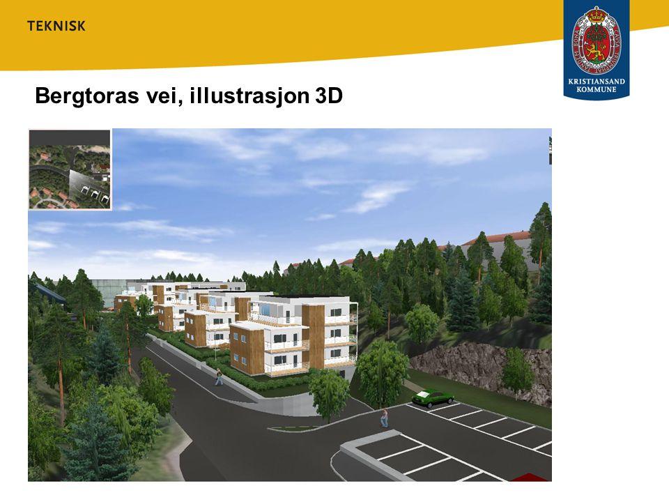 Plan- og bygningsetatens vurdering Området som ønskes utbygd, ligger midt i mellom eksisterende bebyggelse i Bergtorasvei og Sigridsvei.
