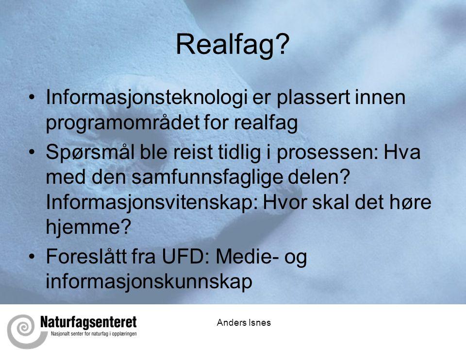Anders Isnes Realfag.