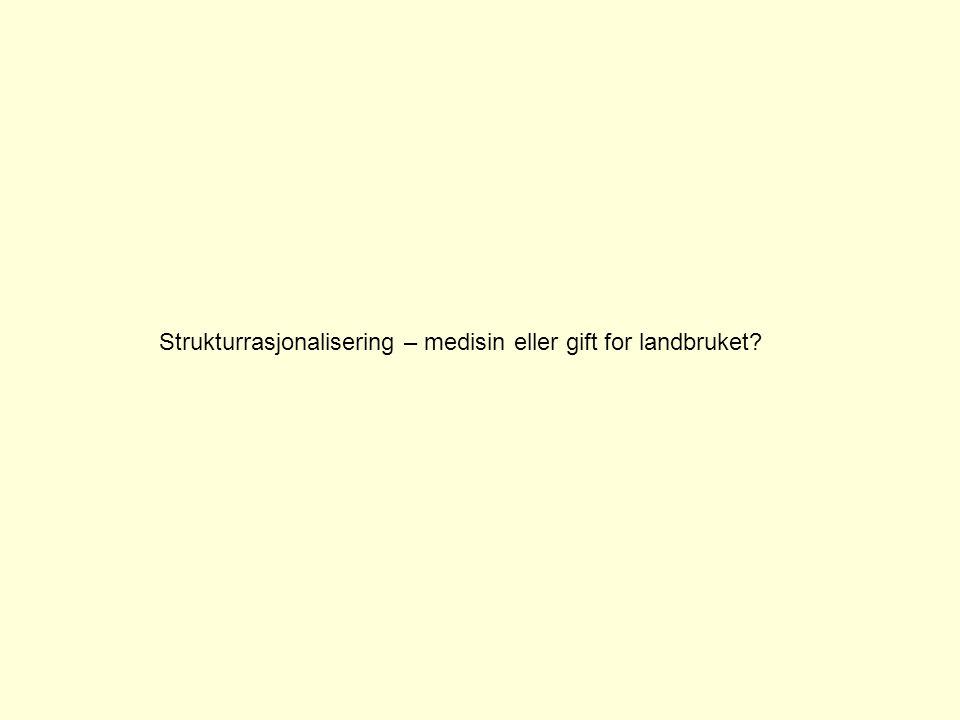 Norsk landbruk 19952008Endring% Gardsbruk 72 435 46 384-26 051-36 % Mjølk (mill.
