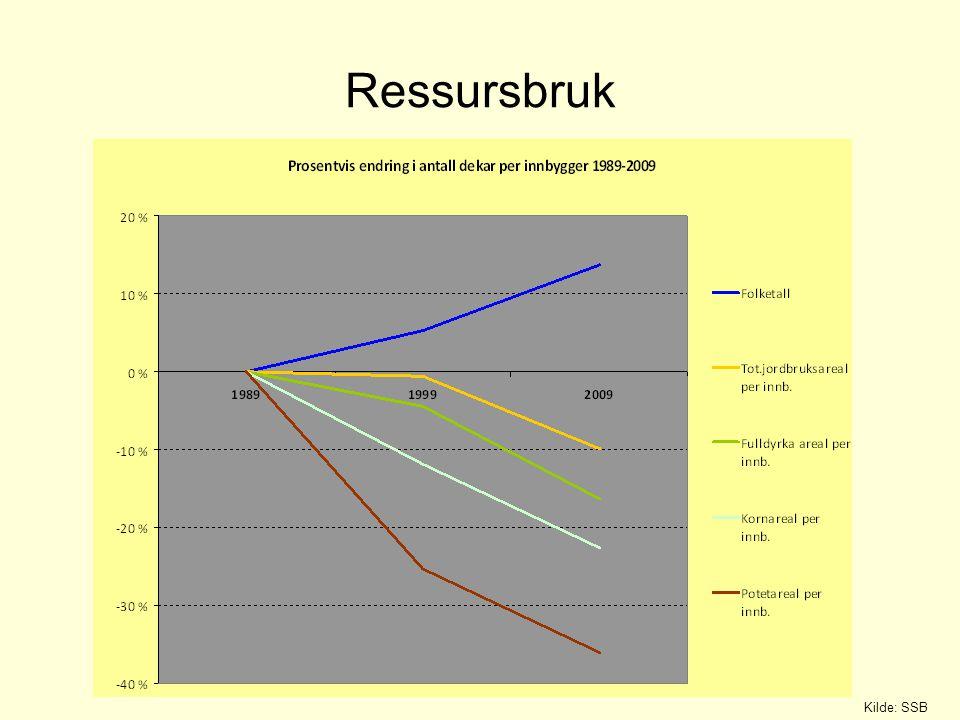 Ressursbruk Kilde: SSB