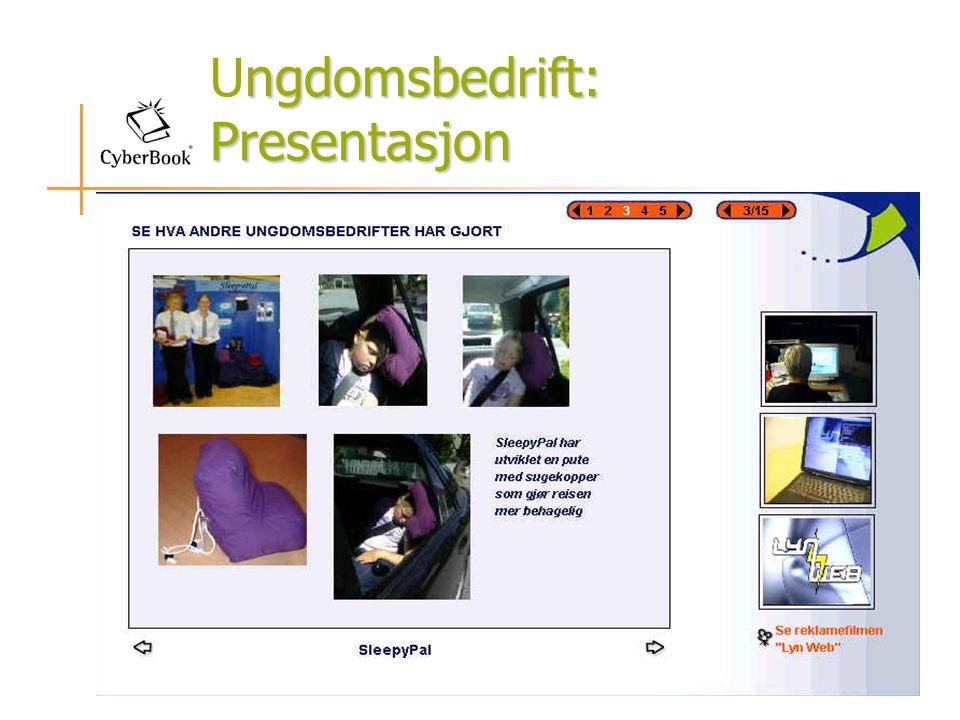 ngdomsbedrift: Presentasjon Ungdomsbedrift: Presentasjon