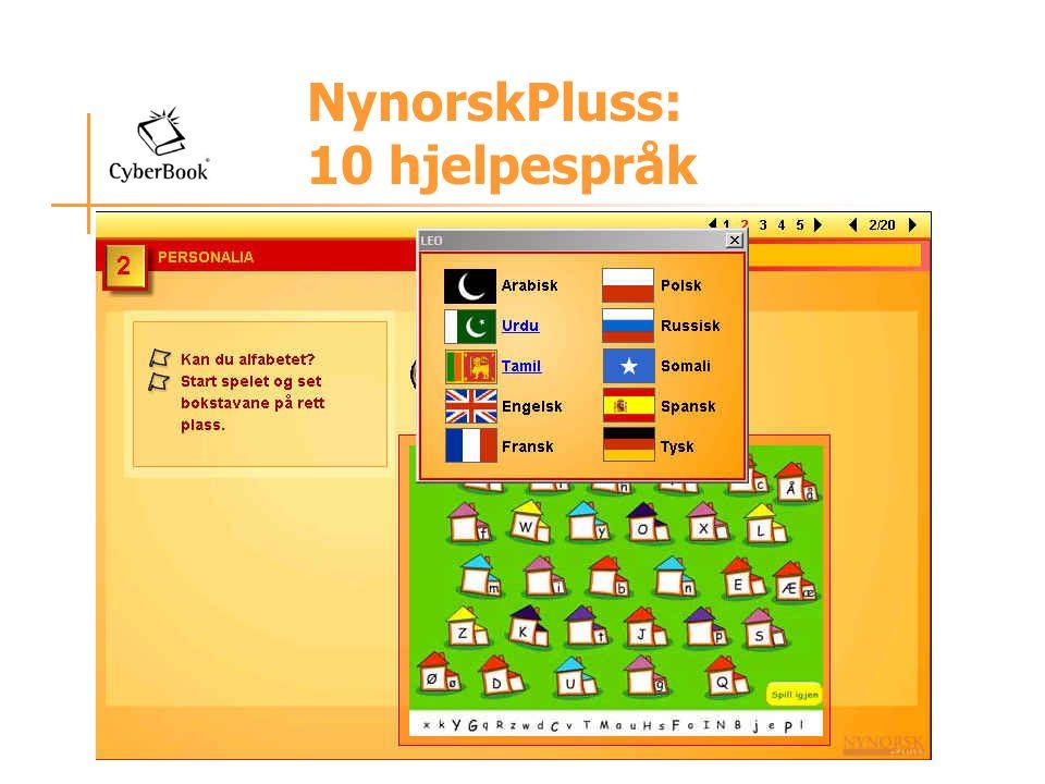NynorskPluss: 10 hjelpespråk