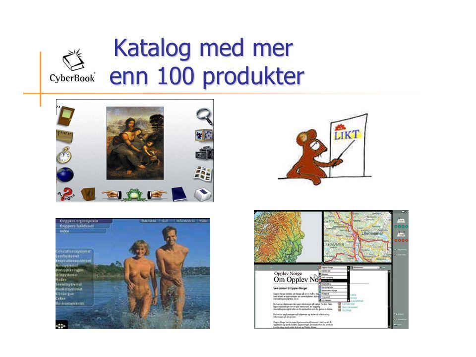 Katalog med mer enn 100 produkter