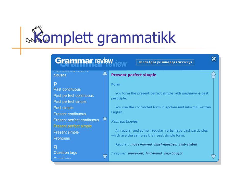 Komplett grammatikk