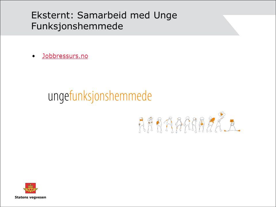 Eksternt: Samarbeid med Unge Funksjonshemmede •Jobbressurs.noJobbressurs.no