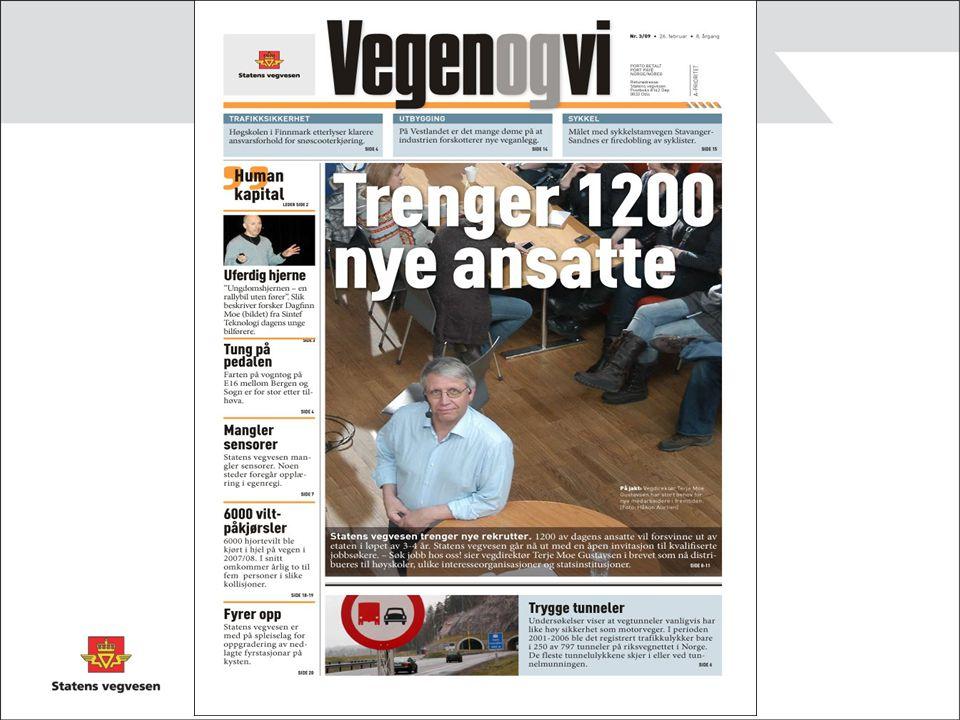 Utfordring nummer 1: Statens vegvesen trenger en ny medarbeider – hver dag.