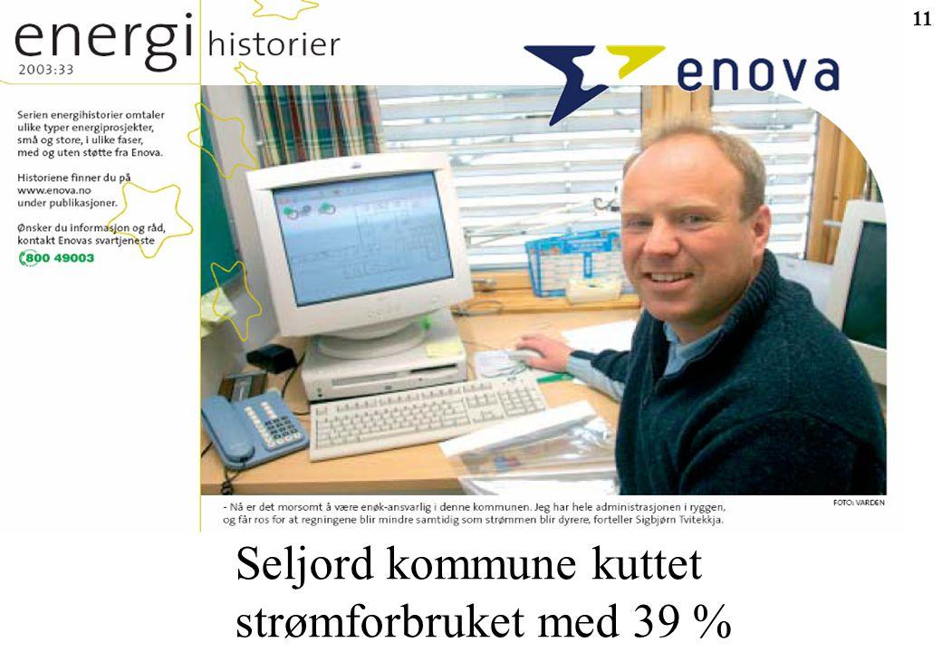 11 Seljord kommune kuttet strømforbruket med 39 %
