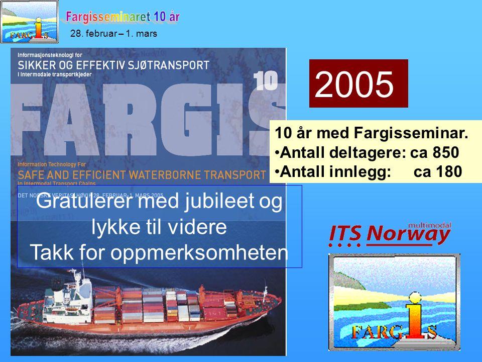 28. februar – 1. mars 10 år med Fargisseminar.