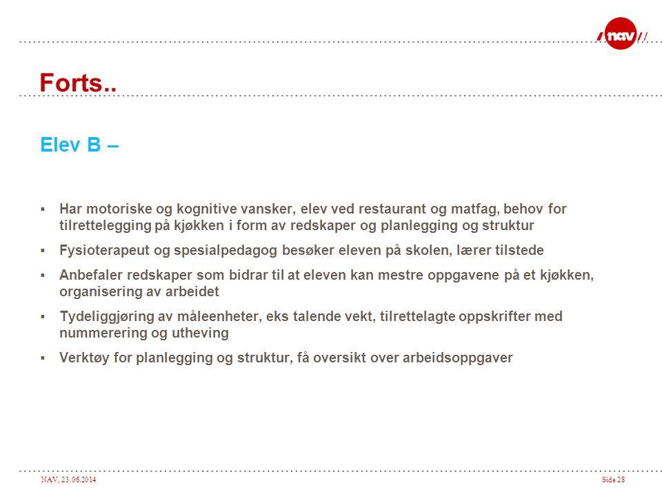 NAV, 23.06.2014Side 28 Forts..