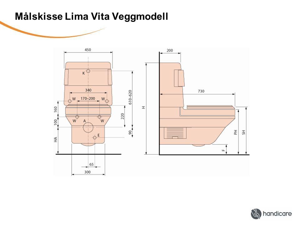Målskisse Lima Vita Veggmodell