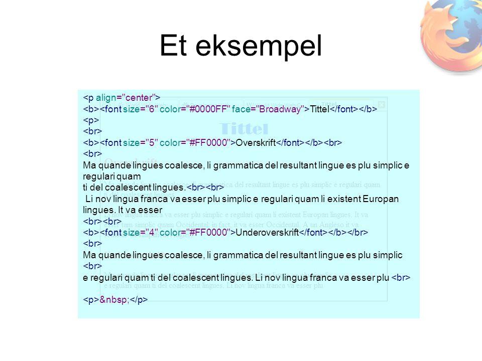 Tittel Overskrift Ma quande lingues coalesce, li grammatica del resultant lingue es plu simplic e regulari quam ti del coalescent lingues.