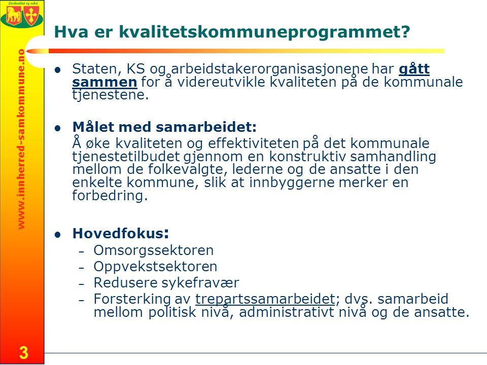 www.innherred-samkommune.no 3 Hva er kvalitetskommuneprogrammet.