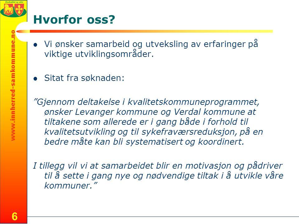 www.innherred-samkommune.no 6 Hvorfor oss.