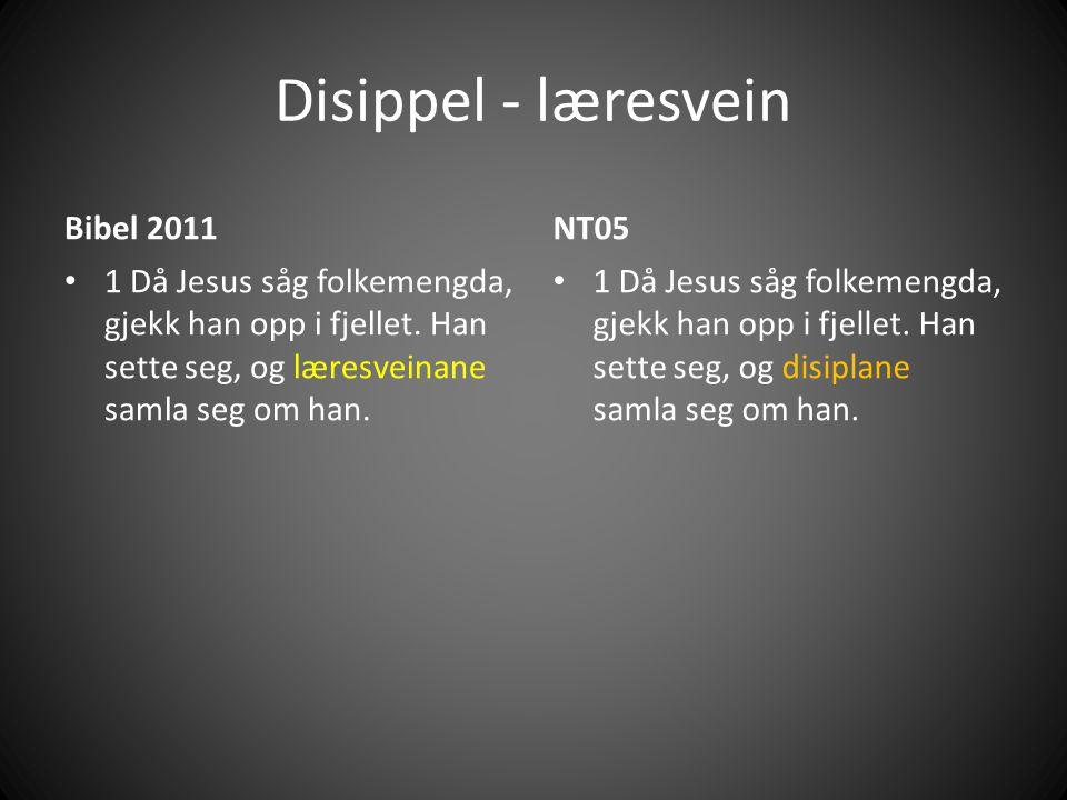 Disippel - læresvein Bibel 2011 • 1 Då Jesus såg folkemengda, gjekk han opp i fjellet.