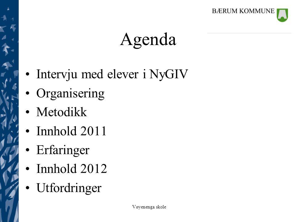 Vøyenenga skole NyGIV •Intensjon  kompetansemål – grunnleggende ferdigheter – motivasjon.