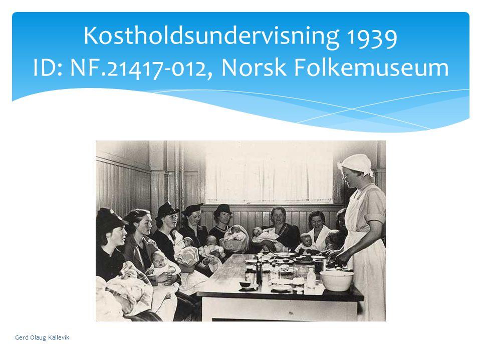 Gerd Olaug Kallevik Kostholdsundervisning 1939 ID: NF.21417-012, Norsk Folkemuseum