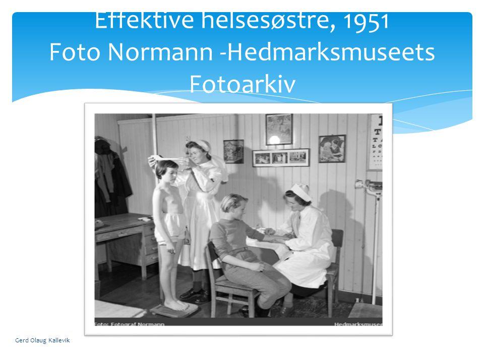Gerd Olaug Kallevik Effektive helsesøstre, 1951 Foto Normann -Hedmarksmuseets Fotoarkiv