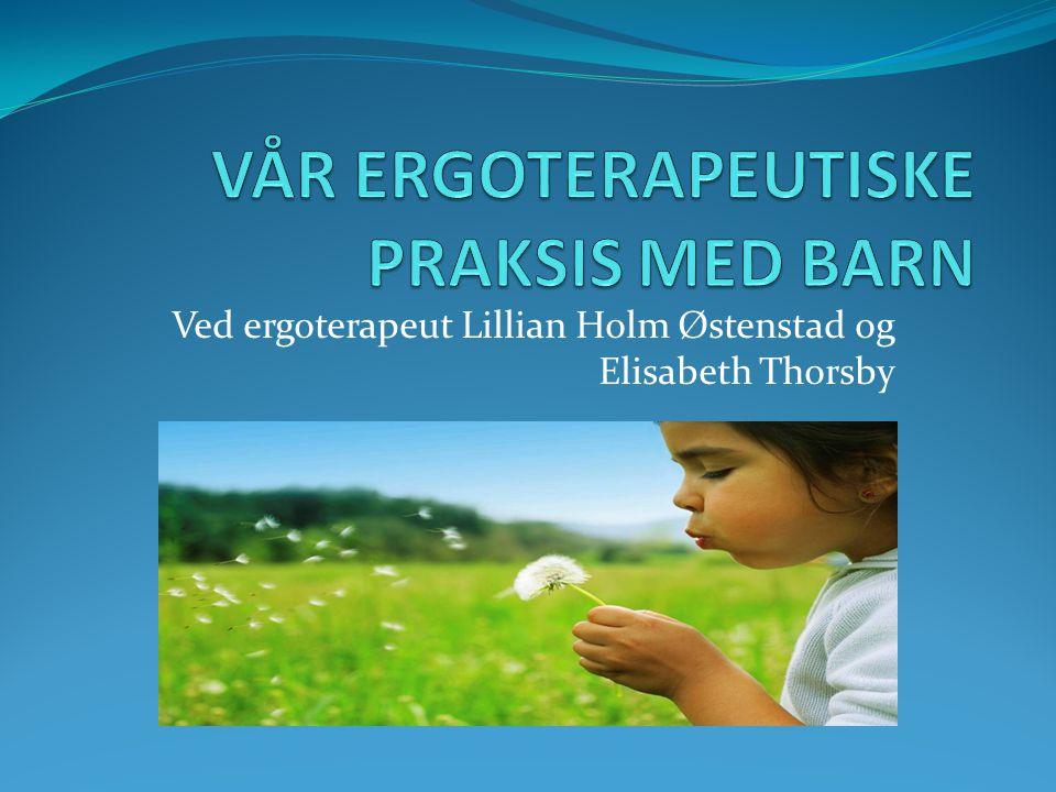Ved ergoterapeut Lillian Holm Østenstad og Elisabeth Thorsby