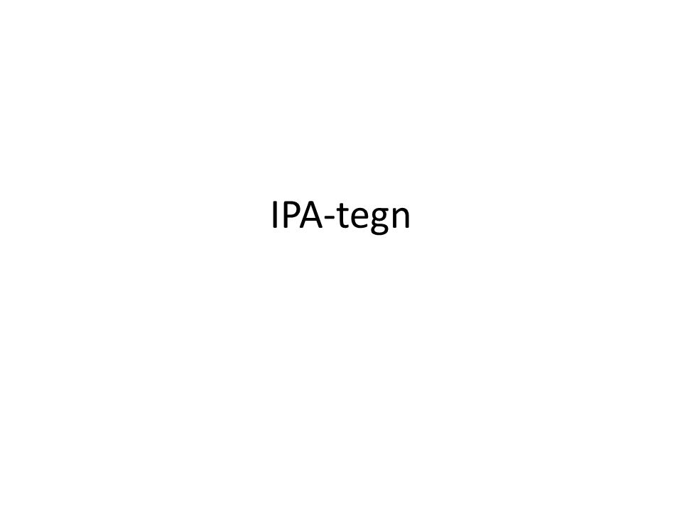 IPA-tegn