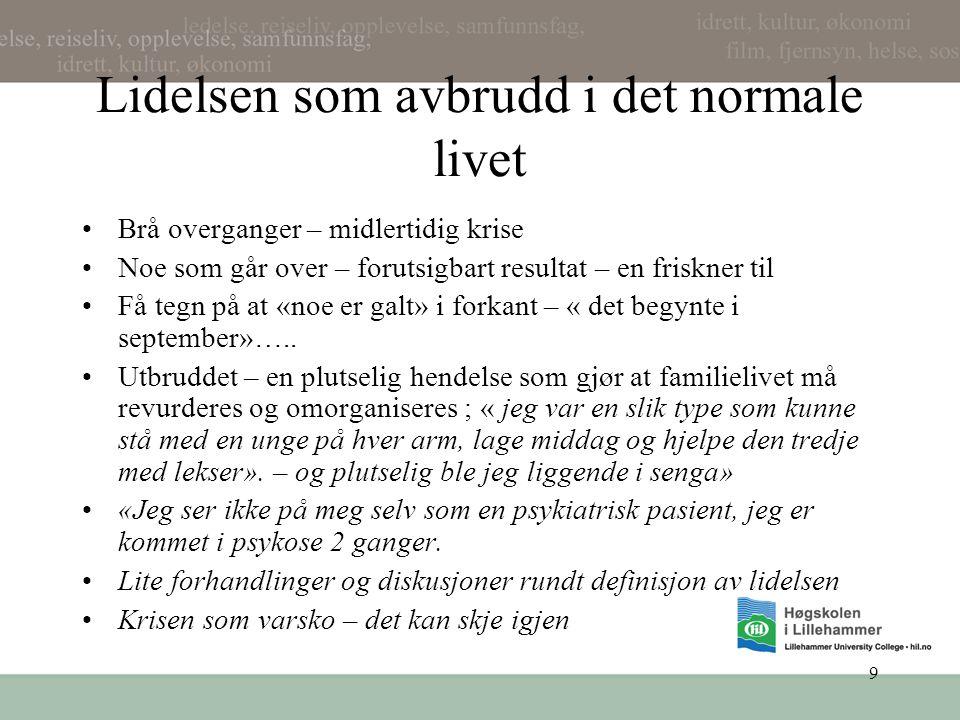 20 Senmoderne foreldreskap: å skape sitt barn •Barn som görbarhetsprosjekt : • de (mødre)sägar at de kännar at de skaper barnets framtid (Bäck Wicklund & Bergsten (1997).