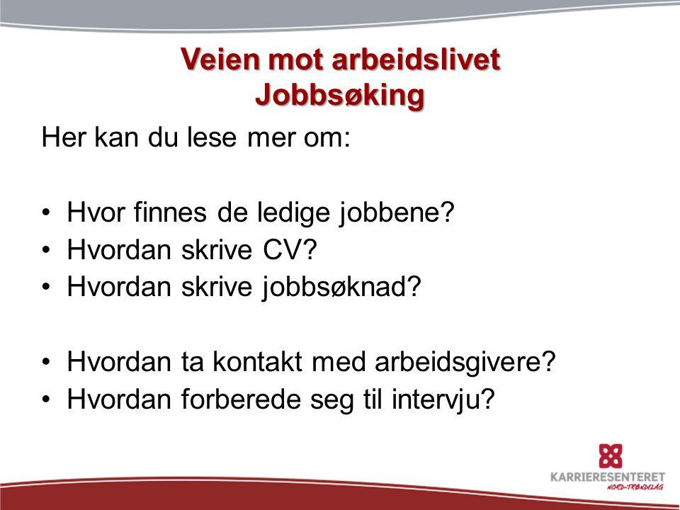 Aktuelle spørsmål i et intervju •Hvorfor søkte du på jobben.