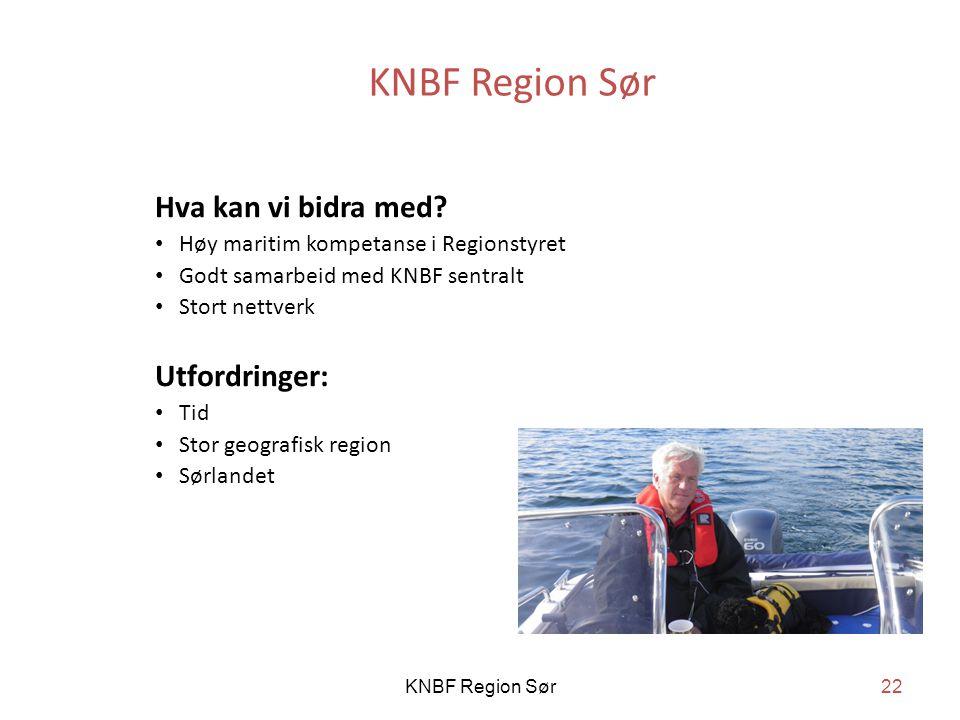 KNBF Region Sør Hva kan vi bidra med.