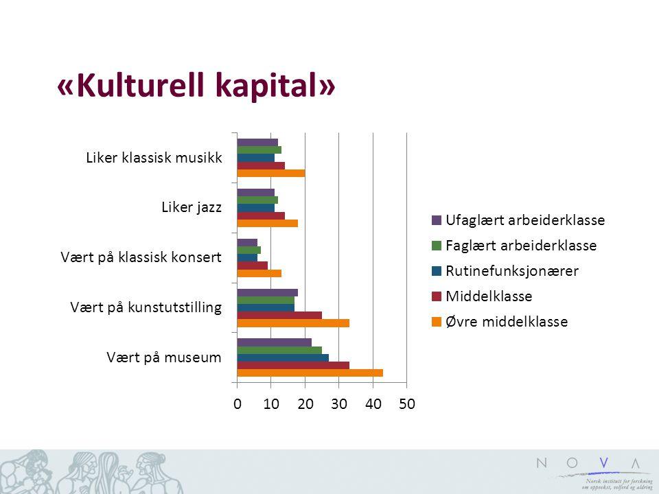 «Kulturell kapital»