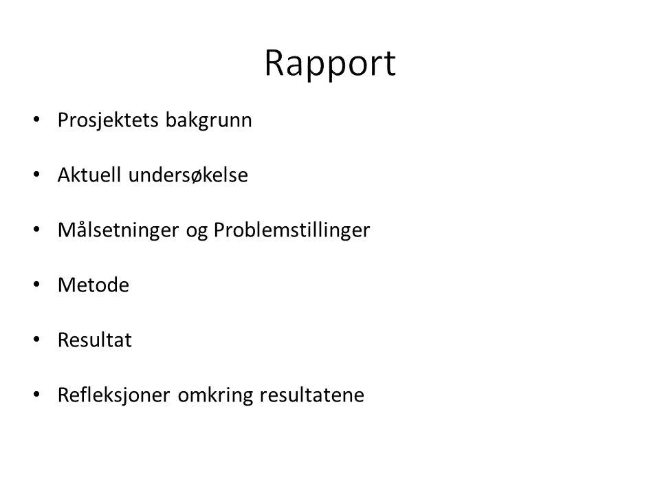 • Tidligere undersøkelse - Jørgensen, Risan, Nyman, & Moen (2006): – Vansker i kommunikasjon med spes.h.tj.