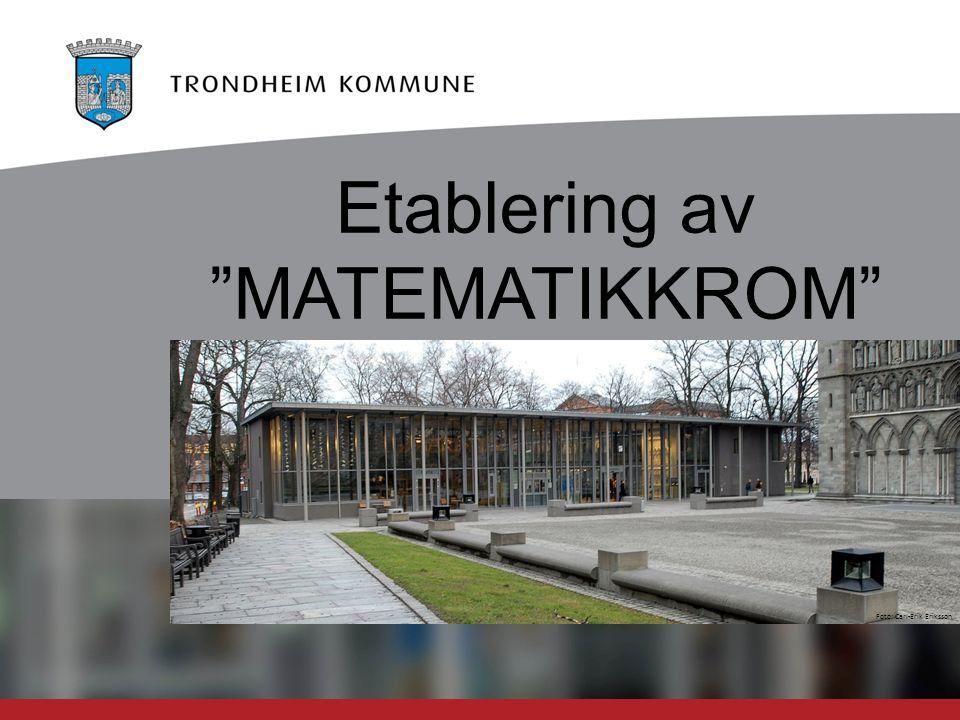 """Foto: Carl-Erik Eriksson Etablering av """"MATEMATIKKROM"""""""