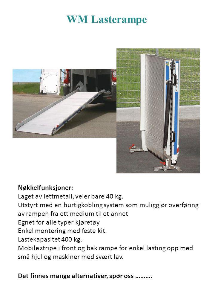 Nøkkelfunksjoner: Laget av lettmetall, veier bare 40 kg. Utstyrt med en hurtigkobling system som muliggjør overføring av rampen fra ett medium til et