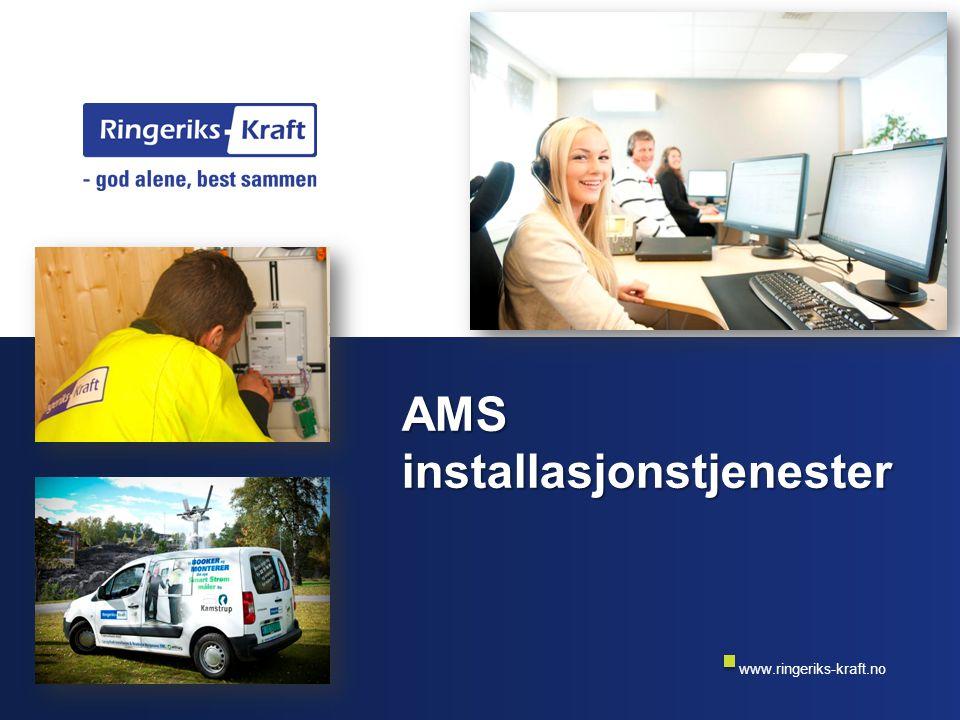 www.ringeriks-kraft.no Temaer Kort om oss Erfaring med AMS montasje Tjenester Gjennomføringsmodell Suksesskriterier
