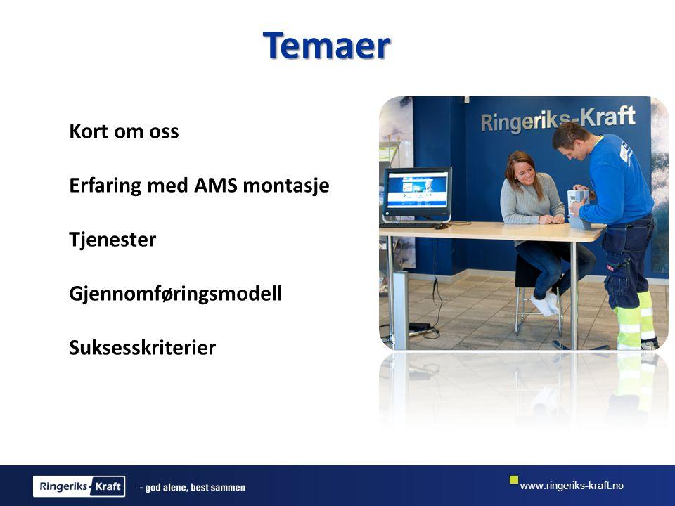 www.ringeriks-kraft.no Vår modell •Bygge prosjektet lokalt med: –Nok og riktige montører, bookingmedarbeidere og ledelse.