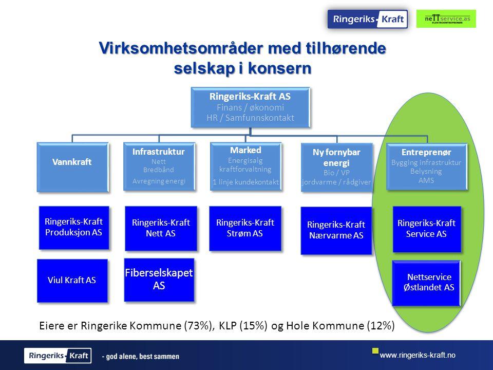 www.ringeriks-kraft.no Tema Kort om oss Erfaring med AMS montasje Tjenester Gjennomføringsmodell Suksesskriterier