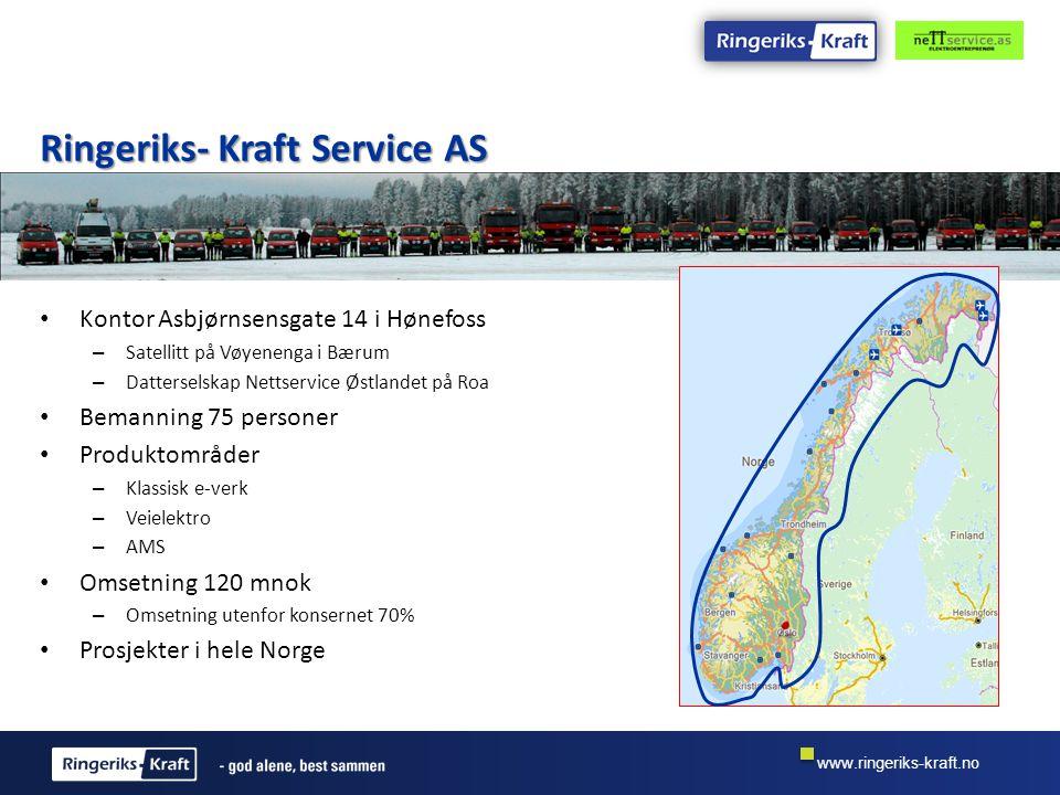 www.ringeriks-kraft.no Gjennomføringsmodell Vi vil benytte AMS montasje erfaringen fra gjennomført prosjekt i nye prosjekter.