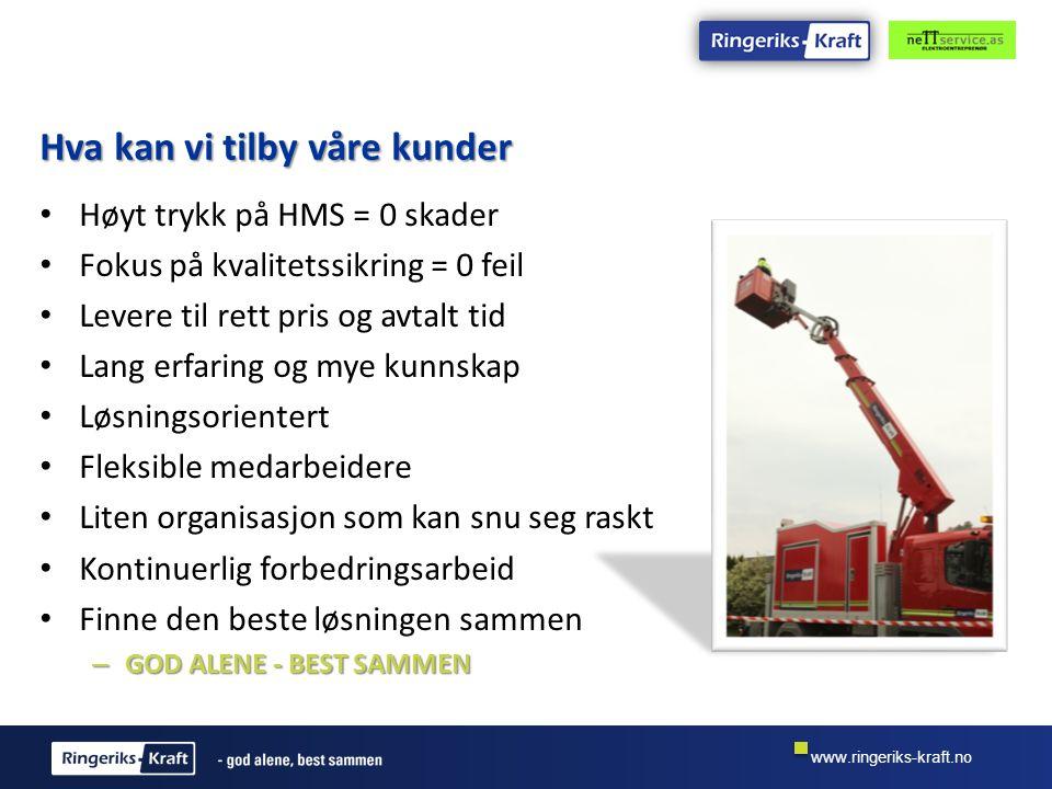 www.ringeriks-kraft.no Gjennomføringen skal preges av kunnskap.