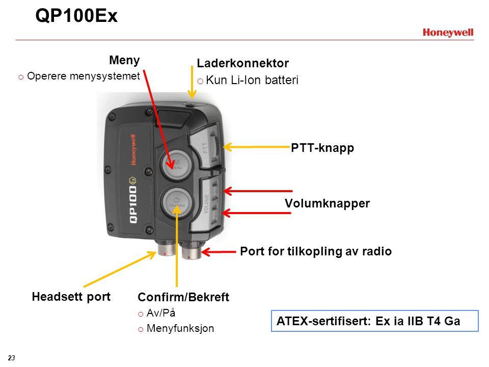 22 Feltdata - eksempel Blå: Lydtrykknivå indre mikrofon Svart: Lydeksponering