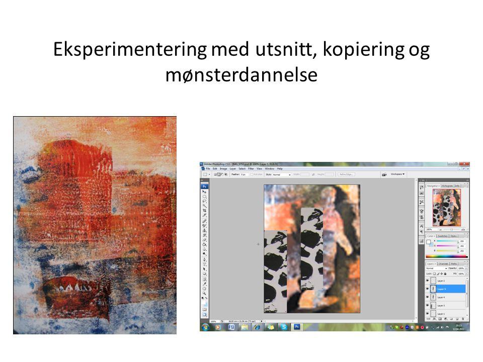 Eksperimentering med utsnitt, kopiering og mønsterdannelse